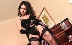 This naughty Asian tranny knows well how to turn you on.