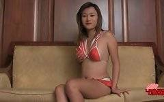 Awesome Asian t-girl Ae knows well how to turn you on.